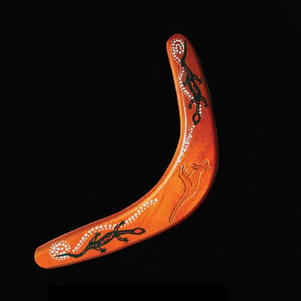 V shape wooden boomerang toy 3d rendering