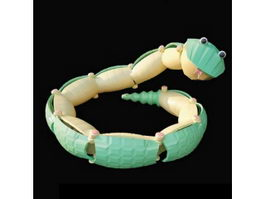 Plastic rattlesnake baby toy 3d model preview