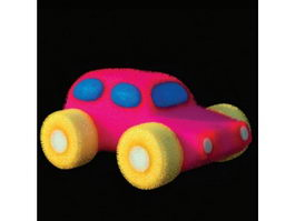 Baby toy plush car 3d model preview