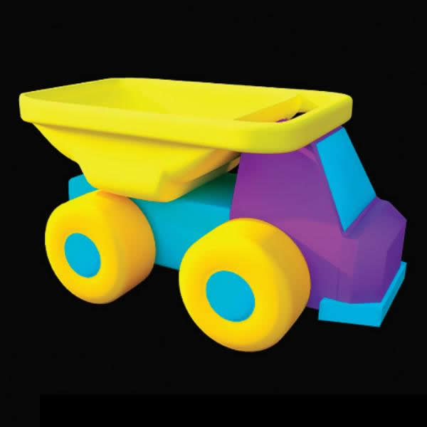 Baby toy plastic car 3d rendering