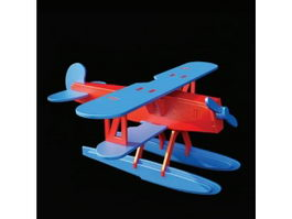 Wooden toy plane Heinkel HE51 3d preview