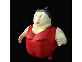 Cartoon toy plastic figure 3d preview