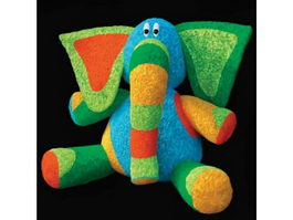 Stuffed plush toy elephant 3d preview