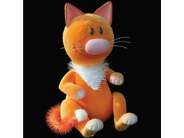 Stuffed cat toy 3d preview