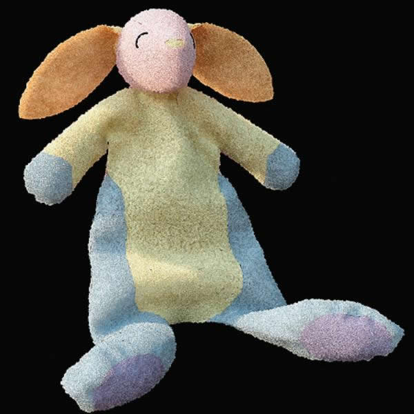 Baby plush toy rabbit 3d rendering