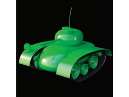 Plastic army toy tank 3d preview