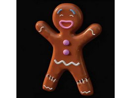 Ceramic gingerbread man 3d preview