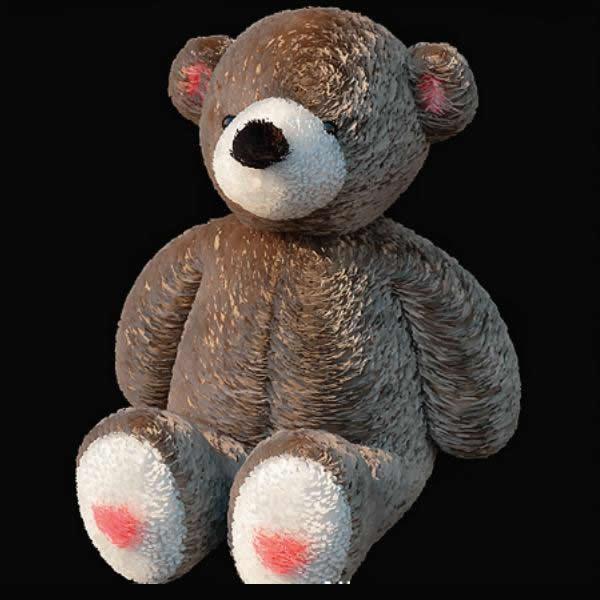 Stuffed teddy bear toy 3d rendering