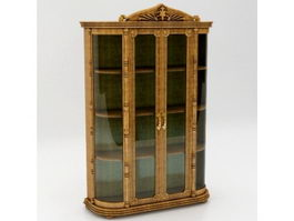 French classical wine cabinet 3d preview