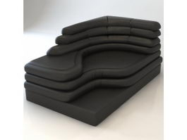 Leather corner sofa 3d preview