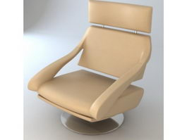 Office leather executive chair 3d model preview