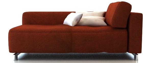 Fabric sofa set furniture 3d rendering