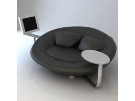 Round lounge chair 3d preview
