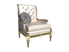 Antique french chair 3d preview