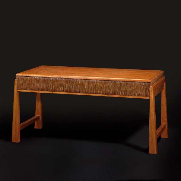 Asian classic wood desk secretaire 3d rendering