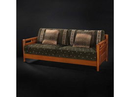 Cushion couch sofa settee 3d model preview
