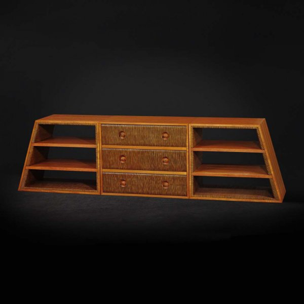Chinese style tv cabinet 3d rendering