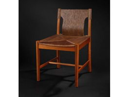 Antique chinese dining chair 3d model preview