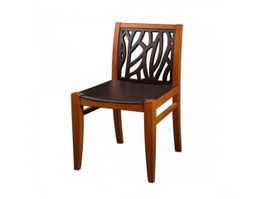 Chinese style antique wooden dining chair 3d model preview