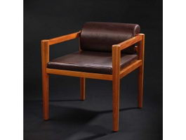 Classic banquet dining chair 3d model preview