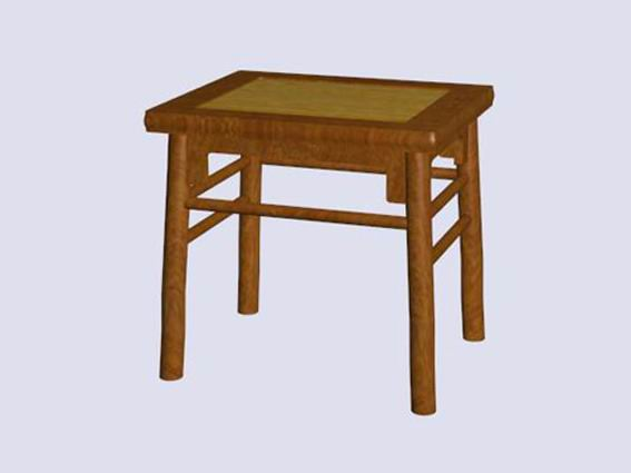 Chinese antique square stool 3d rendering