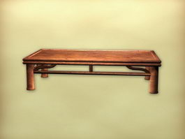 Chinese style antique tea table 3d preview