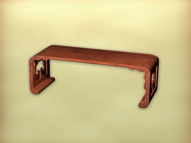 Chinese furniture antique tea table 3d rendering