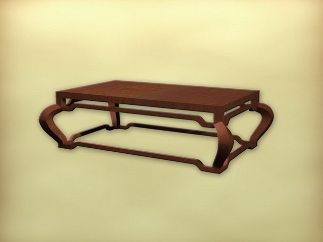 Chinese antique coffee table 3d rendering