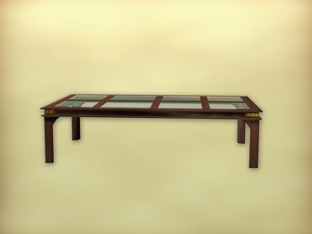 Chinese furniture antique coffee table 3d rendering