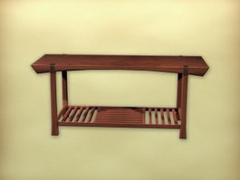 Chinese traditional tea table 3d preview