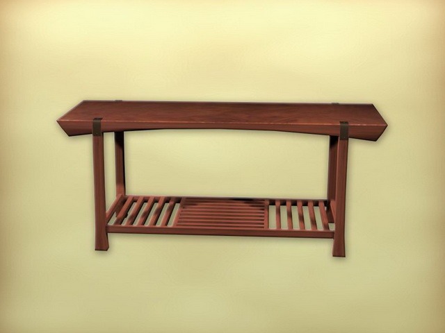 Chinese traditional tea table 3d rendering