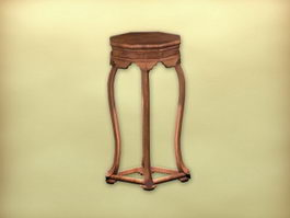 Chinese flower pot table 3d preview