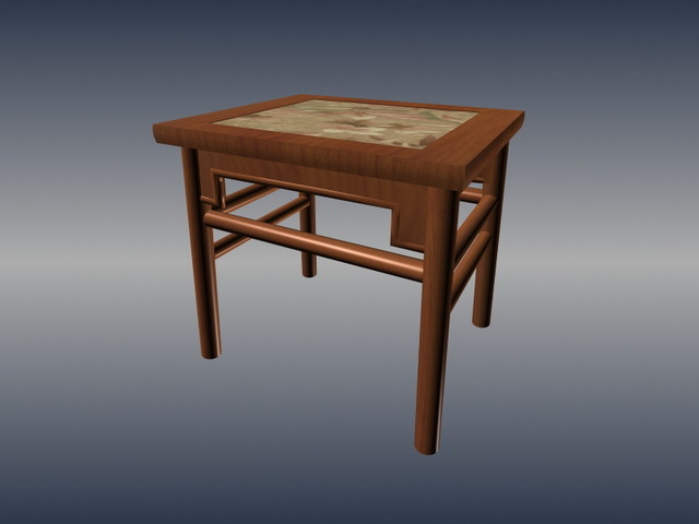 Chinese traditional square stool 3d rendering