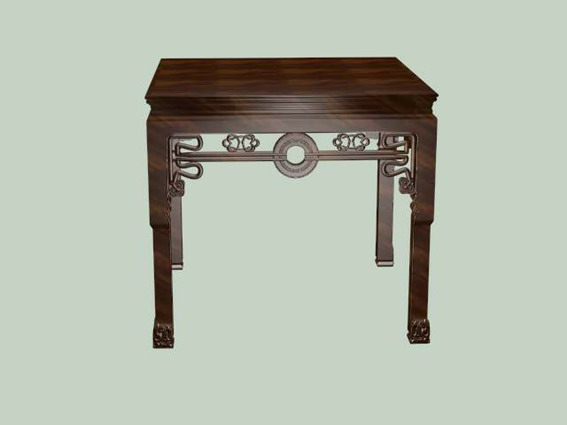 Chinese furniture antique dining table 3d rendering