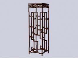 Antique decorative flower rack 3d preview