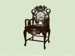 Chinese antique furniture palace chair 3d preview