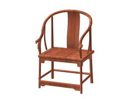 Chinese antique arm chair 3d preview