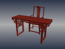 Chinese style antique table 3d preview