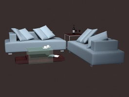 Modern living room set 3d preview