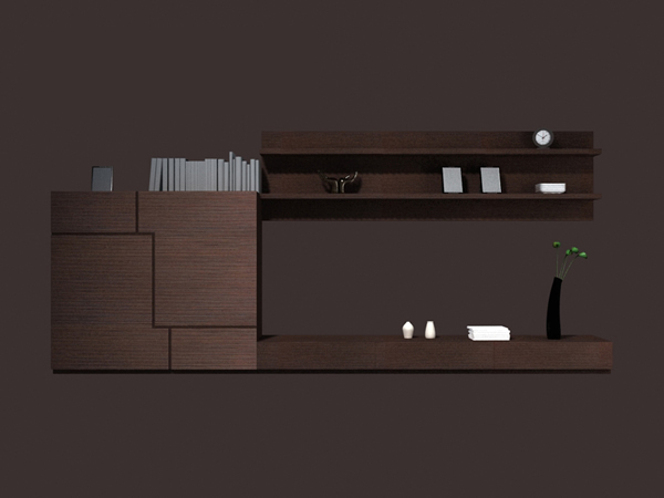 Living room cabinet wall units 3d rendering
