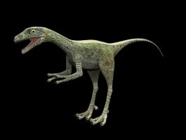 Compsognathus dinosaur 3d model preview