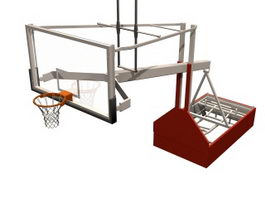 Hydraulic basketball stand 3d model preview