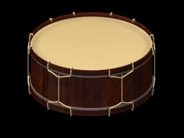 Snare drum 3d model preview