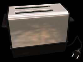 Electric automatic toaster 3d preview