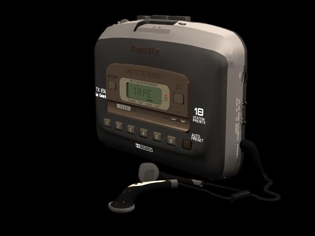 AIWA Walkman 3d rendering