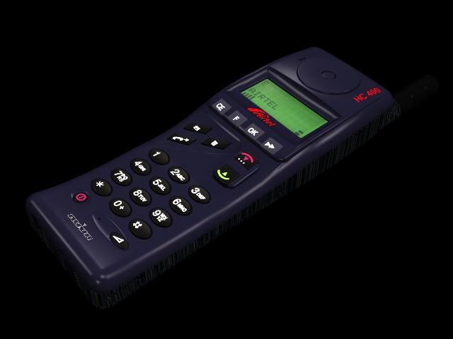 Alcatel HC400 handset 3d rendering