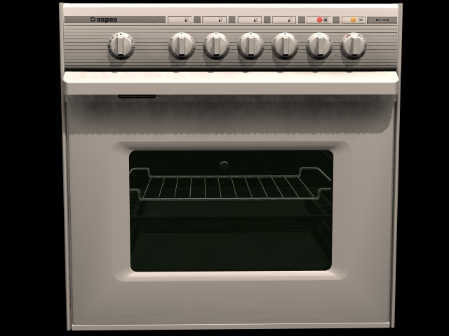 Electric baking oven 3d rendering