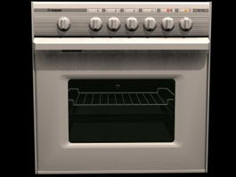 Electric baking oven 3d preview