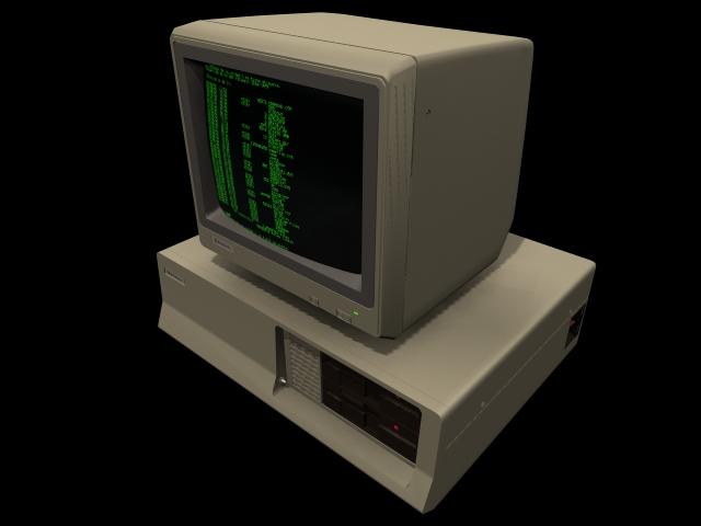 Home computer 3d rendering