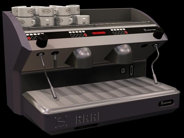 Coffee making machine 3d rendering